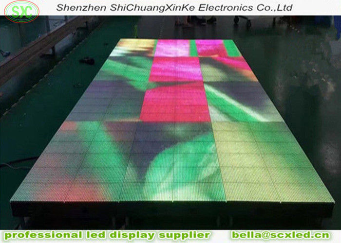 High Weight Load 3 In 1 SMD LED Dance Floor Outdoor P6.25 For Concert , Full Color portable led dance floor