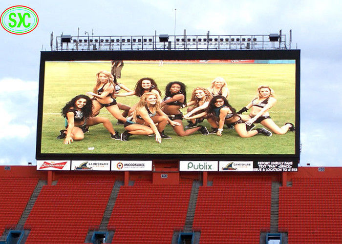 Slim P10 Gaint Outdoor Full Color Led Display Screen Used For Stadium football/volleyball basketball Match