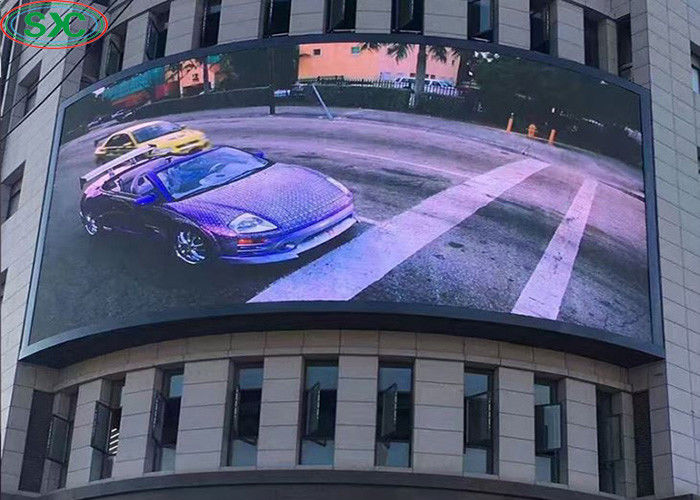 P6 Fixed Outdoor Full Color LED Display Advertising Curved 6000cd/m2 Brightness