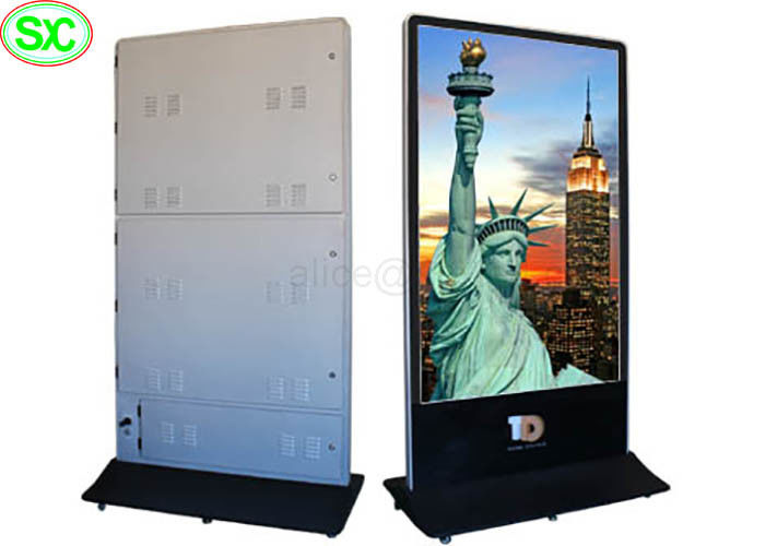 Protable Flexible Digital LED Poster Display P5 Front Side Service Maintenance Mode