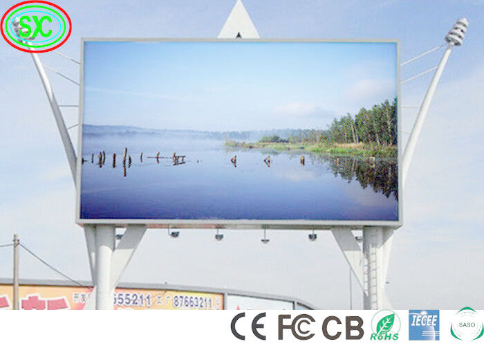 32*16 HD 10000 Dots/Sqm P10 Outdoor Led Billboard Epistar Chip